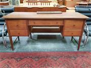 Sale 8476 - Lot 1043 - Quality Younger Teak Curved Front Desk
