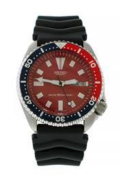 Sale 8522A - Lot 24 - A vintage Seiko dive wristwatch, c1984, 6309 - 7290, with red dial, 41 mm, mineral glass, serviced.