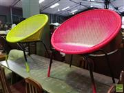 Sale 8550 - Lot 1176 - Pair of Fluro Outdoor Chairs