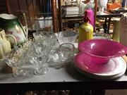 Sale 8659 - Lot 2239 - Collection of Glasswares incl. Bowls, Vase, Plates, Soda Syphon, etc