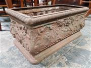 Sale 8848 - Lot 1039 - Possibly Victorian Cast Iron Planter, with floral arabesques