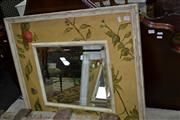 Sale 7981A - Lot 1095 - Mirror with Floral Painted Frame