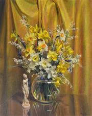 Sale 8000 - Lot 317 - Reg Campbell (1923 - 2008) - Still Life with Daffodils oil on canvas on board