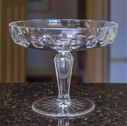 Sale 8270 - Lot 83 - Hand cut crystal cake stand, C: 1900, D 20cm