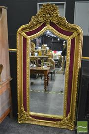 Sale 8386 - Lot 1004 - Ornate Oversized Gilt Framed Mirror