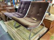 Sale 8550 - Lot 1181 - Pair of Chrome Based Lounge Chairs