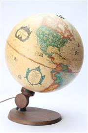 Sale 8667 - Lot 15 - Readers Digest World Antique Spot Globe Lamp on Stand