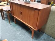 Sale 8872 - Lot 1028 - Tambour Front Record Cabinet