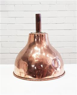 Sale 9126 - Lot 1135 - Large French copper funnel