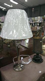 Sale 7944A - Lot 1044 - Column Form Table Lamp with Candle Holder