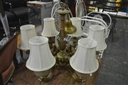 Sale 8175 - Lot 1060 - Hanging Light Fitting with 8 Arms