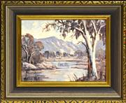 Sale 8325A - Lot 181 - Norma Kett (active 1970s - 80s) - Goulburn River 14.5 x 19cm