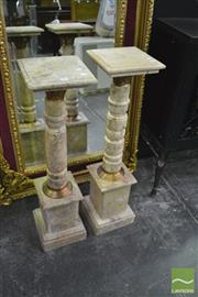 Sale 8386 - Lot 1005 - Pair of Marble Plinths