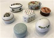 Sale 8436A - Lot 66 - A group of seven miscellaneous china pill boxes including Christmas, Scottish and WA interest.