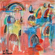 Sale 8853A - Lot 5021 - Yosi Messiah (1964 - ) - Fire Pink 102 x 102cm