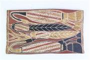 Sale 8894 - Lot 50 - Small Aboriginal Painting (17cm x 30cm)