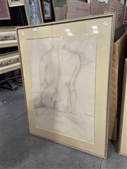 Sale 9053 - Lot 2056 - Lisa Pritchard, Seated Nude, 1982, pencil drawing, frame: 89 x 68 cm, signed lower right
