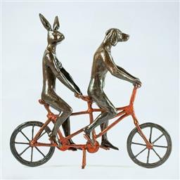 Sale 9099A - Lot 5023 - Gillie and Marc - They Loved Riding Together in Paris 26 x 8 x 28 cm