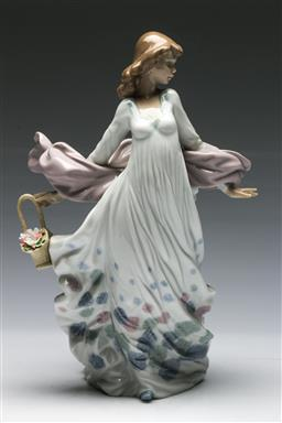 Sale 9138 - Lot 68 - Lladro Figure of a Woman with Flowers (H:30cm)