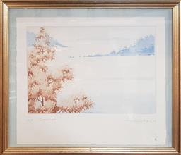 Sale 9155 - Lot 2009 - Peter Hickey Sugarloaf etching and aquatint ed. AP, 32 x 36cm (frame) signed