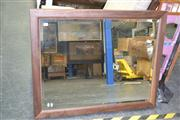 Sale 7981A - Lot 1074 - Timber Frame Mirror w Bevelled Edge