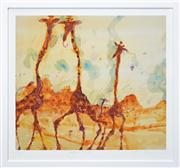 Sale 8259 - Lot 579 - John Henry Olsen (1928 - ) - Giraffes at Mt. Kenya 74 x 82cm
