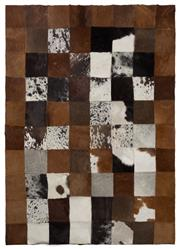 Sale 8431A - Lot 662D - Checkerboard Nguni Cow Rug, approx 140 x 101cm