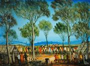 Sale 8513A - Lot 5038 - Kevin Charles (Pro) Hart (1928 - 2006) - The Three Horse Race 45.5 x 61cm