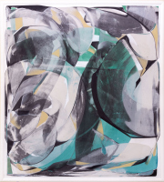 Sale 8677B - Lot 835 - Bluston, oil on canvas, abstract work, H x 195cm, W x 175cm