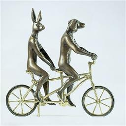 Sale 9100A - Lot 5065 - Gillie and Marc - They Loved Riding Together in Paris 26 x 8 x 28 cm