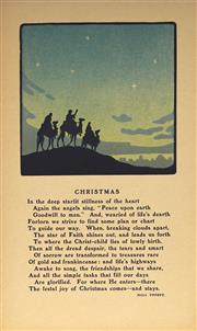 Sale 9078A - Lot 5098 - John Hall Thorpe (1874-1947) (5 works) - Christmas 13.5 x 14 cm (sheet: 29.5 x 17.5 cm) each