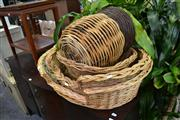 Sale 8147 - Lot 1092 - Collection of Cane Goods inc Baskets