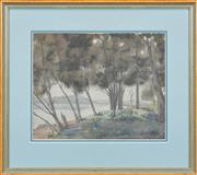 Sale 8295 - Lot 48 - Rah Fizelle (1891 - 1964) - Untitled (Boat on the Shore) 23 x 29cm