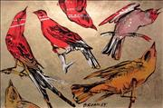 Sale 8350E - Lot 23 - David Bromley (1960 - ) - Birds 78 x 120cm