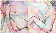 Sale 8497A - Lot 5067 - Cyndi Rogoff (1976 - ) (2 works) - Neon Pop Nudes 25 x 30cm, each