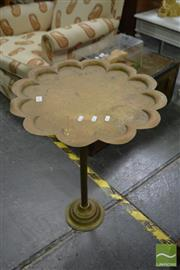 Sale 8489 - Lot 1018 - Brass Engraved Tray on Stand