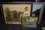 Sale 8503 - Lot 2089 - Group of (3) original paintings
