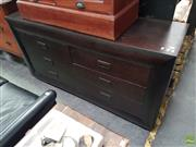 Sale 8566 - Lot 1290 - Timber Chest of Six Drawers (160 x 44 x 85)