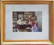 Sale 8604 - Lot 2018 - Artist Unknown - The Lecture watercolour, 39 x 47cm (frame) signed lower right