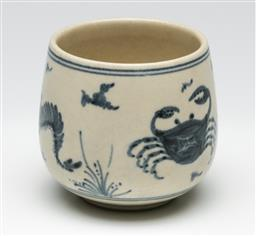 Sale 9209 - Lot 83 - A Chinese blue and white cup (H:7cm)