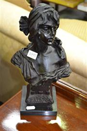 Sale 7981A - Lot 1097 - Bust of Lady on Marble Base