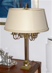Sale 8098A - Lot 27 - A brass table Lamp