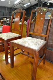 Sale 8115 - Lot 1120 - Set Of Six Timber Dining Chairs