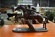 Sale 8147 - Lot 1016 - Reproduction Statue of Horse Racer