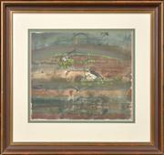 Sale 8286 - Lot 570 - John Olsen (1928 - ) - Untitled (Wetlands & Birds) 39.5 x 45.5cm
