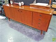 Sale 8424 - Lot 1001 - Vintage Parker Sideboard with Catseye Handles