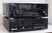 Sale 8815A - Lot 60 - A quantity of pioneer stereo audio equipment including an AV multi channel receiver, a compact disk player, a stereo receiver and a...