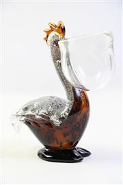 Sale 8997 - Lot 59 - Murano style Vintage Sommerso Figure of a Pelican, H: 22cm