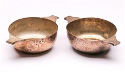 Sale 9122 - Lot 196 - Pair of Hallmarked Sterling Silver Twin Handled Commemorative Bowls, Sheffield c1929 (W:14cm), (wt 209g)