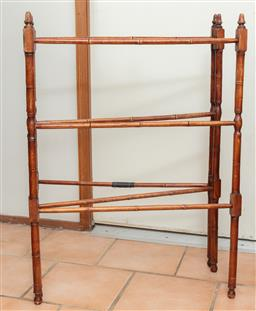 Sale 9120H - Lot 360 - A bamboo towel rail. Height 92cm